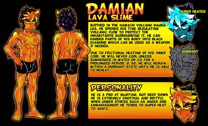 Damian OC Character sheet by CMYKnova
