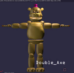 (Blender/FNaF) Stylized Fredboi by TheDoubleAxe