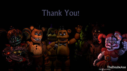 FNaF's 4. Anniversary by TheDoubleAxe