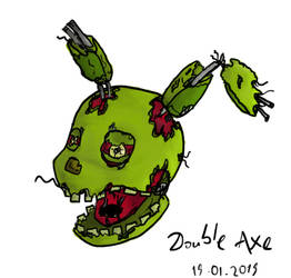 Springtrap head drawing by TheDoubleAxe