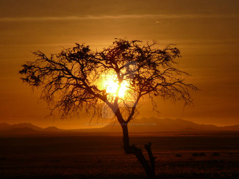Sunset in Aus, Namibia, Africa