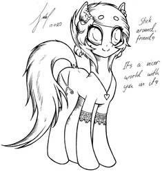 Friendly Pone - Lineart