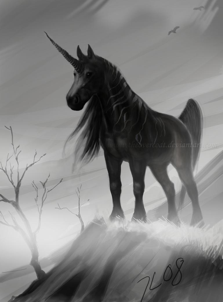 Black unicorn by theOvercoat