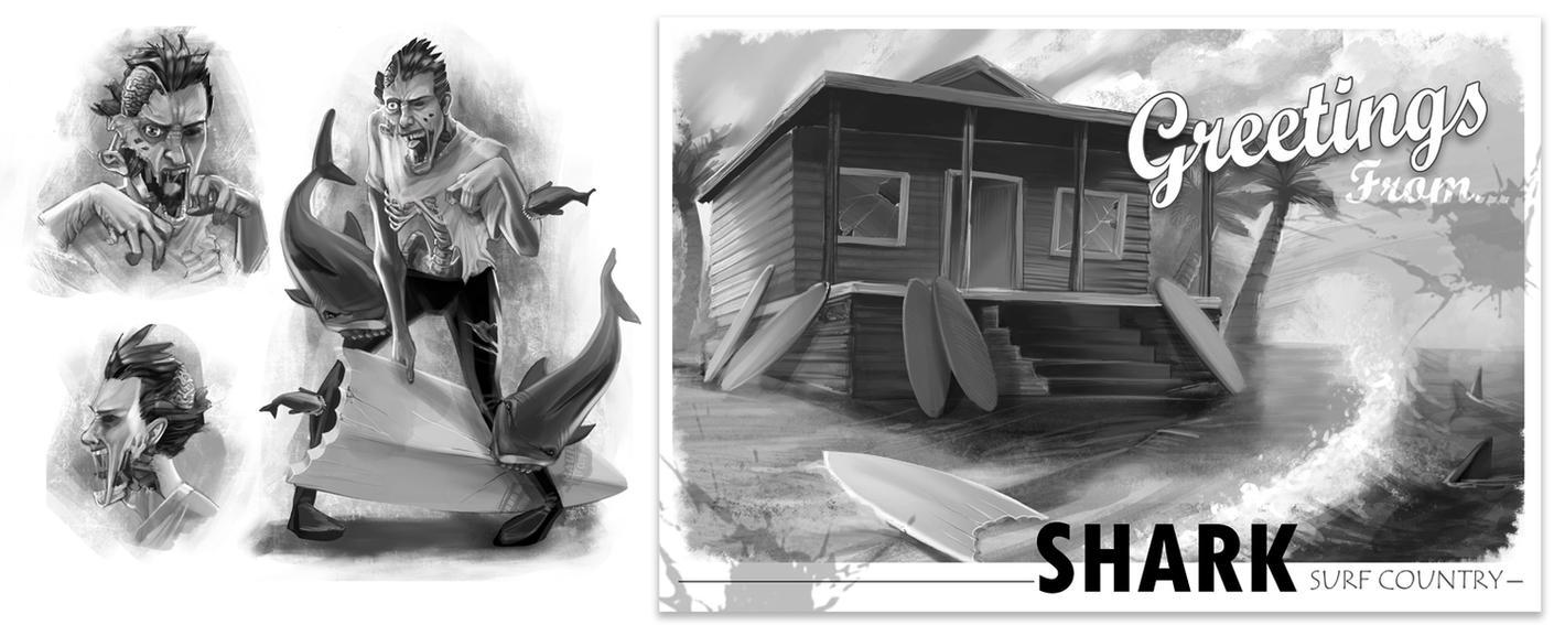 Surfs Up, Zombie by TyRomsa