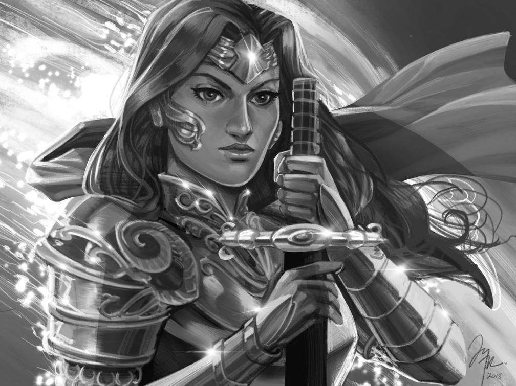 Warrior Sketch by TyRomsa