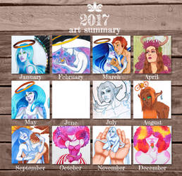 Art summary 2017 by EverbloomingForest