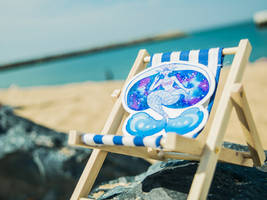 Moon mermaid beach sticker