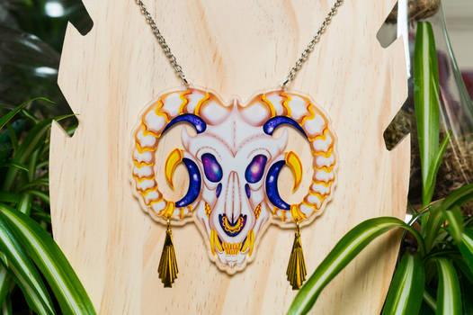 dragon galaxy skull necklace