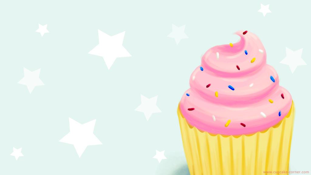 Cartoon Cupcake Wallpaper By ZolMariee
