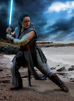 Rey cosplay inspired by Topps card art