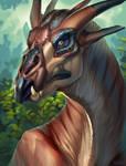 Giraffe dragon BC by Kahito-Slydeft