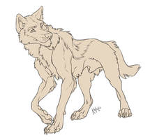 Free line wolf by Kahito-Slydeft
