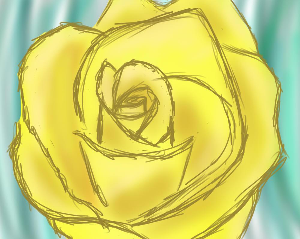 Yellow Rose by Purplecrazychick