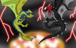 Clash of the Alphas by FireballStardraco