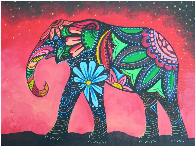 Nursery Wall Global Elephants On Pinterest Elephants