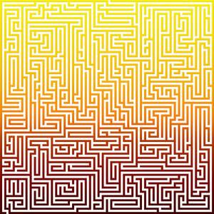 Giant spectrum maze