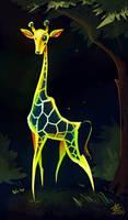 Glowing Giraffe!