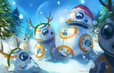 BB-8 Christmas by StarSoulArt