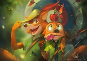 Fox Bros by StarSoulArt