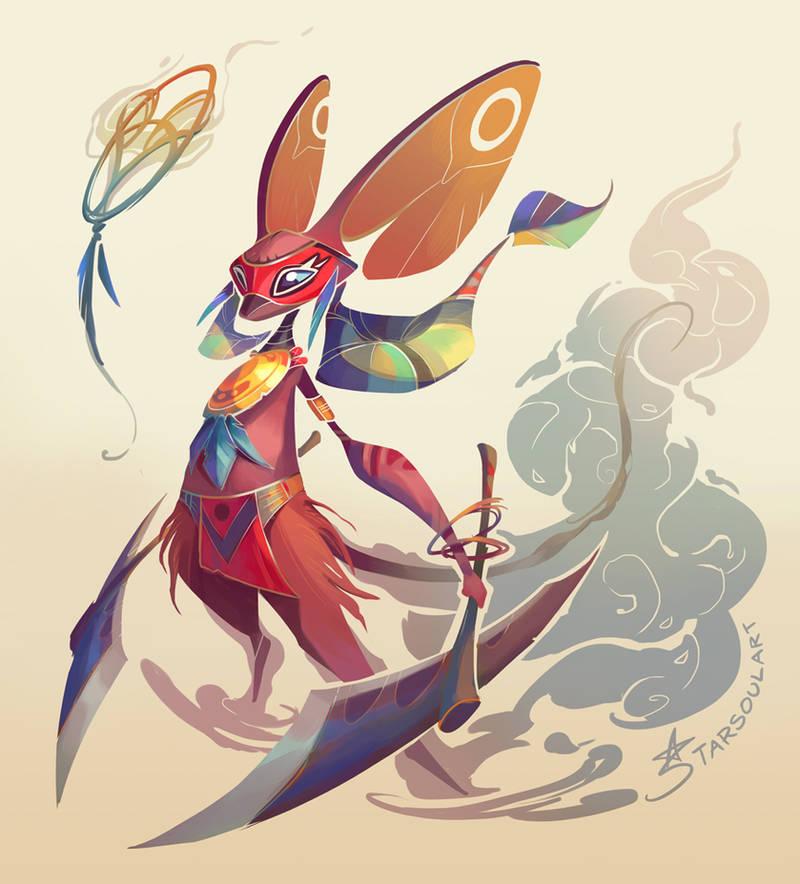 Totem Spirit Warrior by StarSoulArt