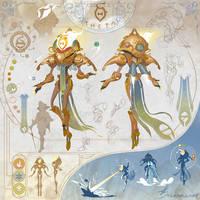 THETA - Character Sheet by StarSoulArt