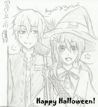 Ayumi x Yoshiki - Halloween by AngieInes