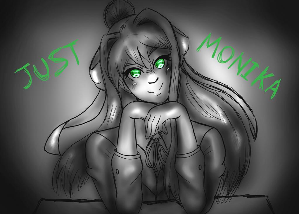 Just Monika by AkatsukiMemberWoolfy