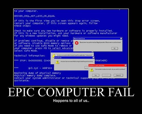 Epic Computer Fail