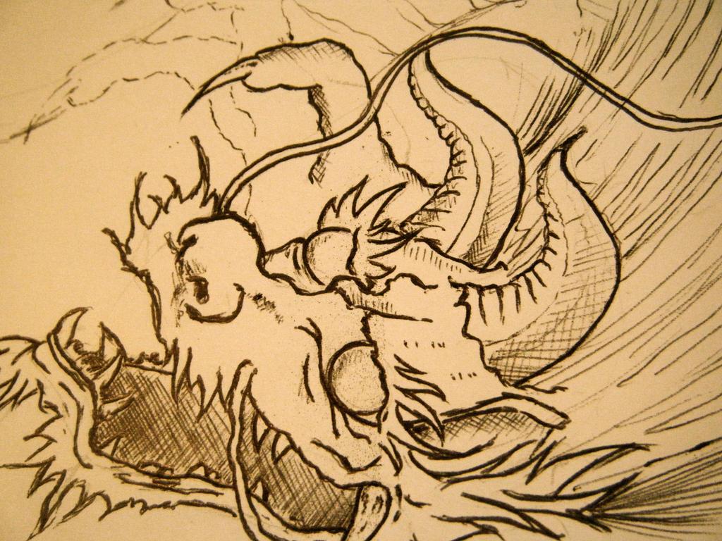 DRAGON. WIP detail - sleeve tattoo