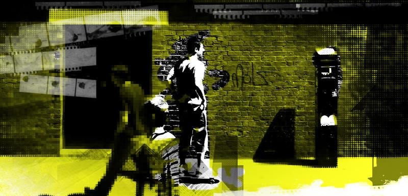 Yellow Skater by NinjaJedi