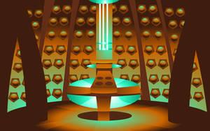 TARDIS Interior Wallpaper by newtonthenewt