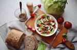 Breakfast spring salad