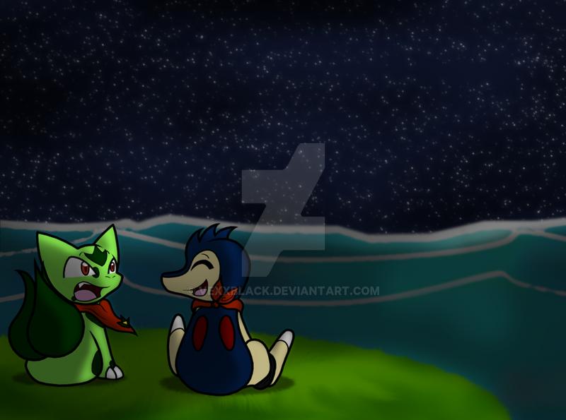 Star Gazing with Mack by VexxBlack