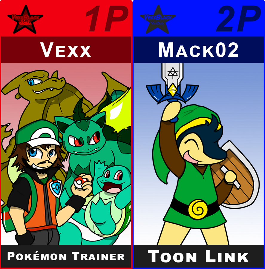 SSB Vexx Trainer and Toon Mack by VexxBlack