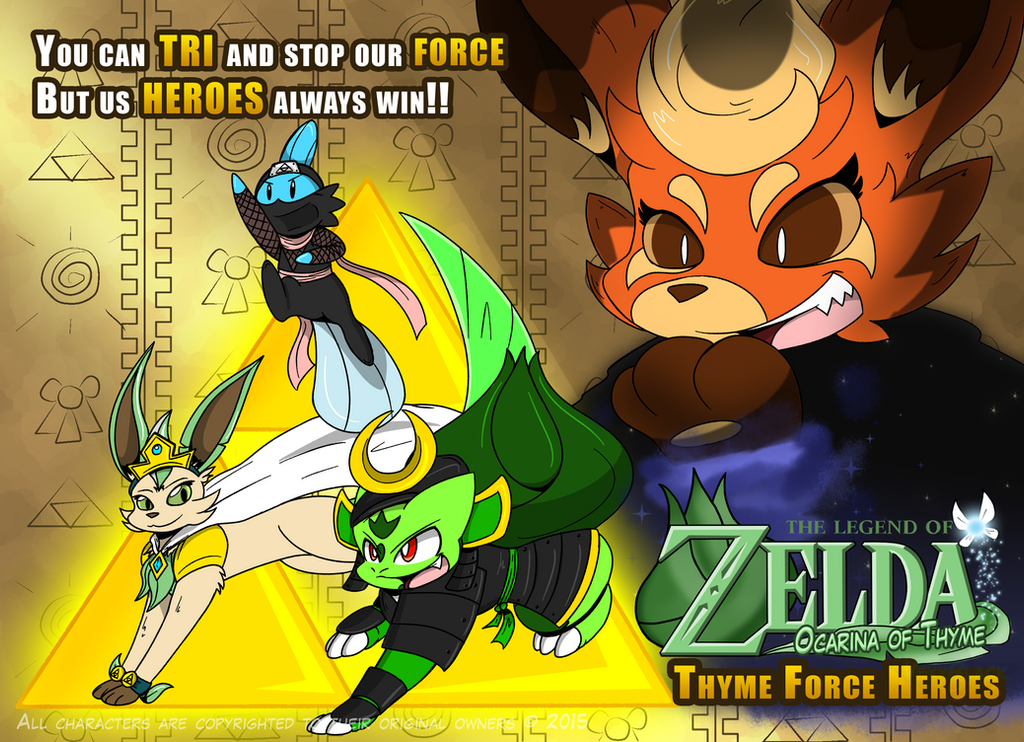 Thyme Force heroes by VexxBlack