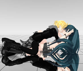 BRS and LEN by Black-rock-shooter-1
