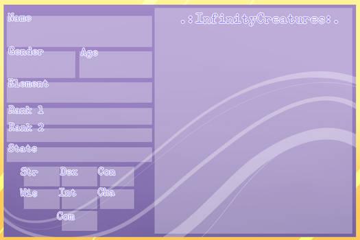 .: Infinity Creature Blank Reff Sheet :.