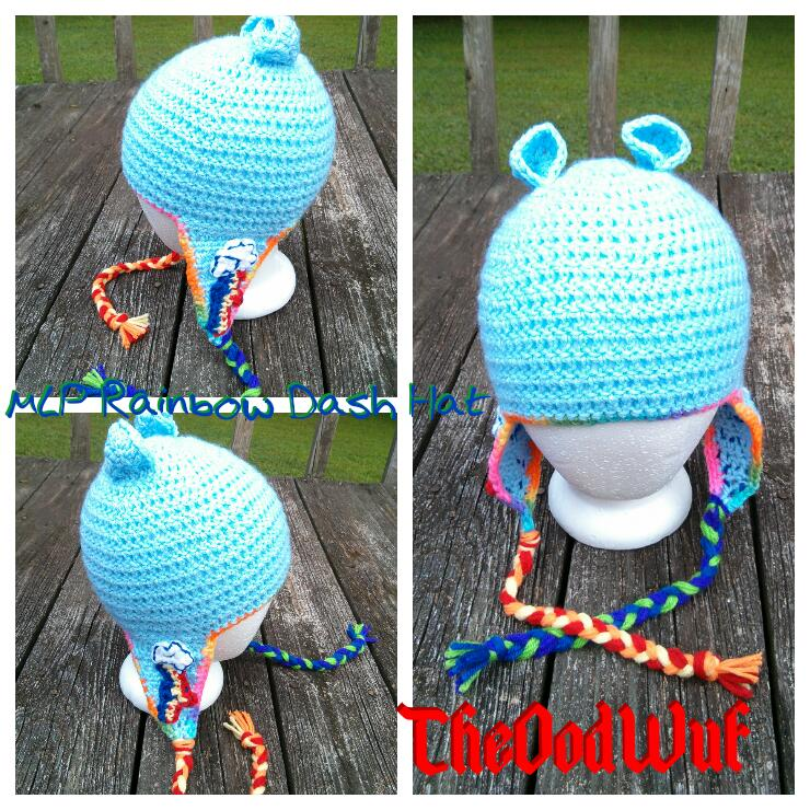 Rainbow Dash hat by Kira-Kat