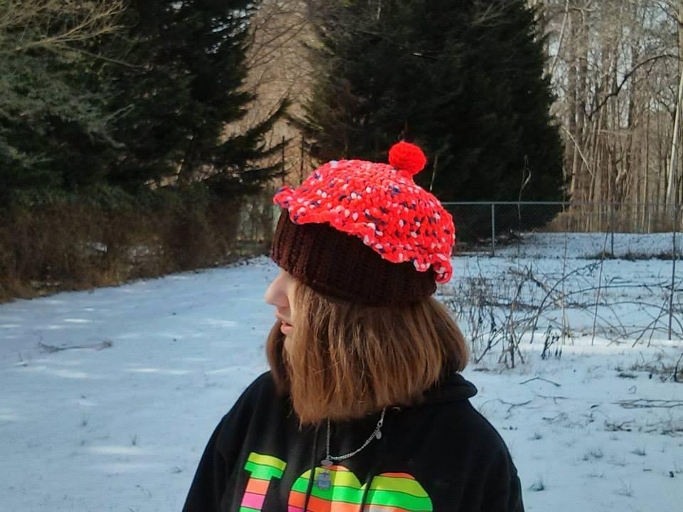 cupcake hat - modeled by Kira-Kat
