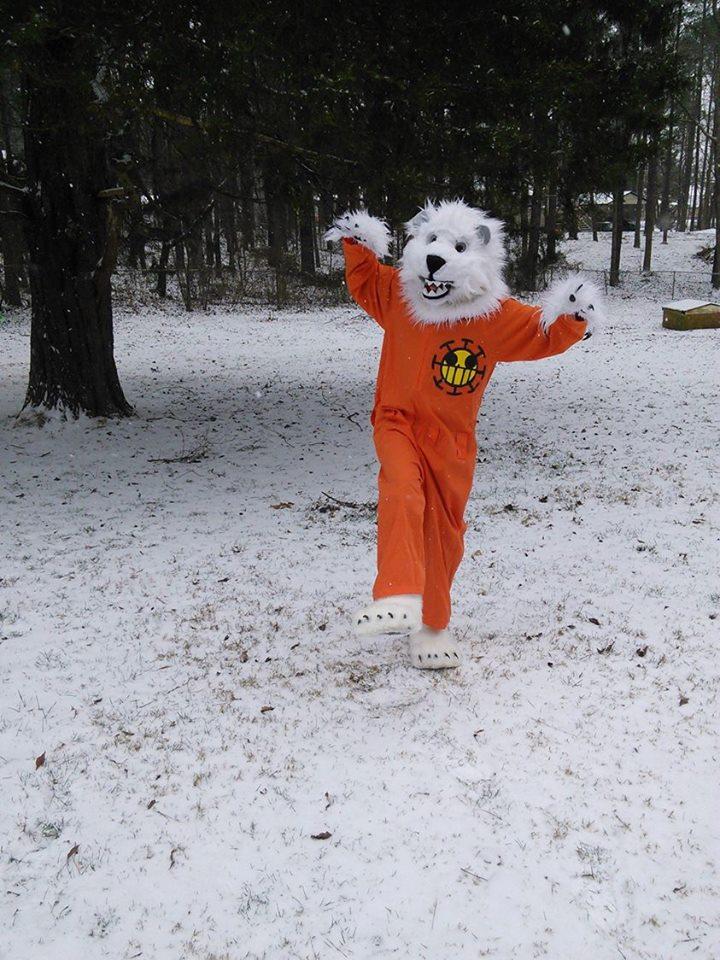 RAWR its snowing - Bepo cosplay by Kira-Kat