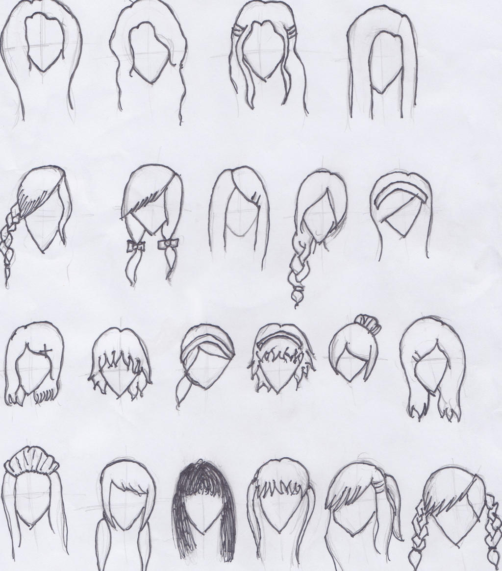cartoon girl hair styles by nagi126 cartoons comics traditional media ...