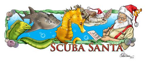 Scuba Santa by DejaRico