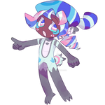 Flower Raccoon Plush