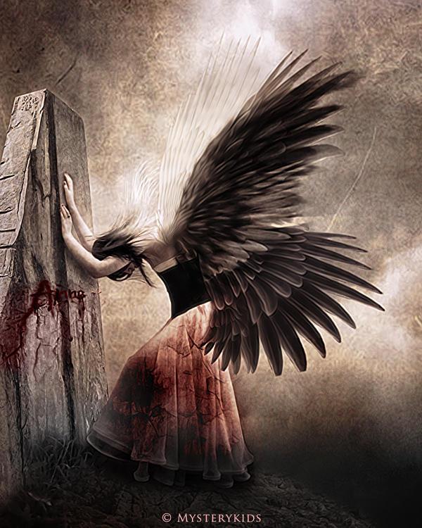 fantasy art angel sad - photo #35