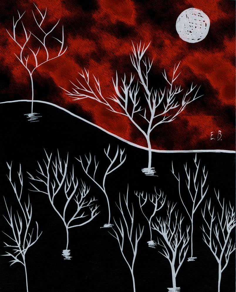 Red Moon - White Night by PadmaPhala
