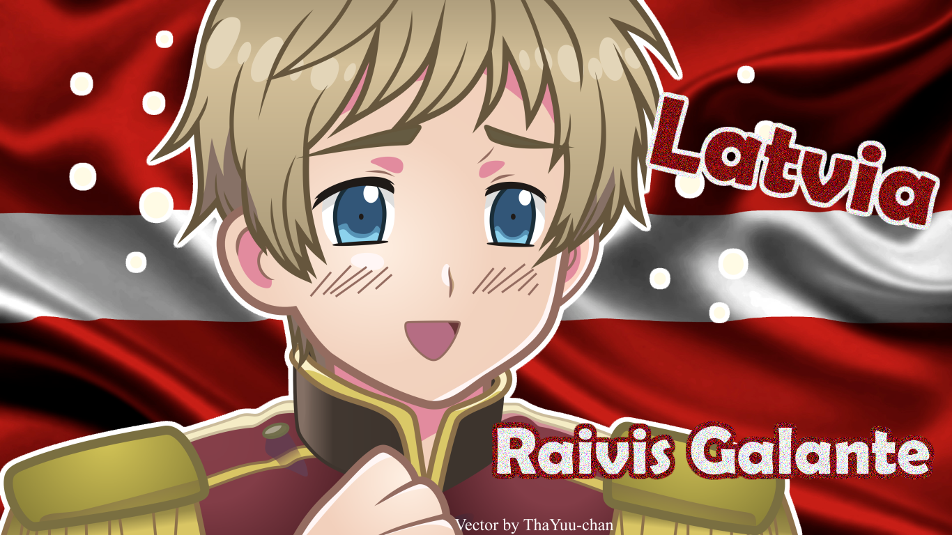 [APH] Latvia (Raivis Galante) Wallpaper by BunnyBeryl