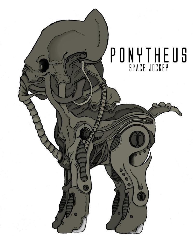 Ponytheus (Prometheus crossover) by ItsJustRED