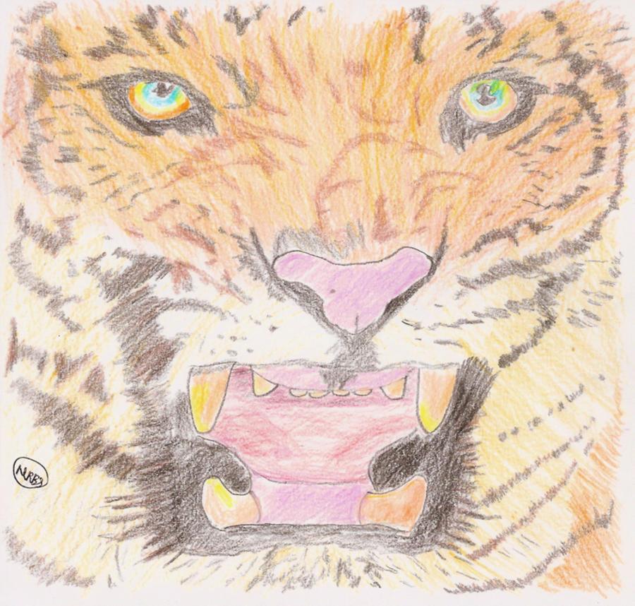 roaring tiger by MeraniiZaynOushima