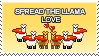 Spread The Llama Love Badge by other-covers