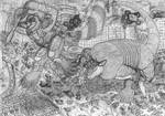 Kaiju Hopscotch by manaista